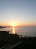 部屋から見える夕日