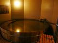 大きな樽の貸切風呂