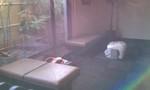 風呂場前の休憩所