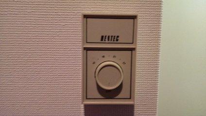 暖房のコントローラ