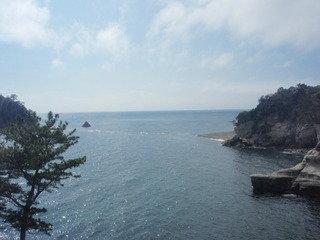 全室オーシャンビュー。三四郎島とトンボロ現象が見えます。