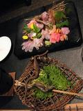 色どりがきれいな夕食