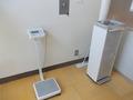 体重計と給水器