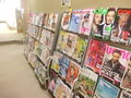 雑誌がたくさんありました