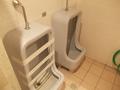 大浴場脇の男子用トイレ