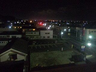 客室階からの夜景