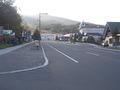 基線バス停からホテルまでの上り坂