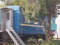 かつては客室として使用されていた貨車です