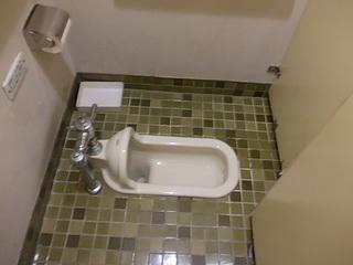 個室トイレは和式トイレでした