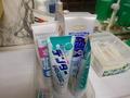 歯磨き粉が沢山ありました