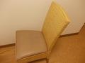 籐製の背もたれ椅子もスタイリッシュな風情でした