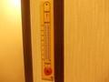 昔ながらの温度計が設置されていました
