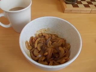 フリーフードでの朝食