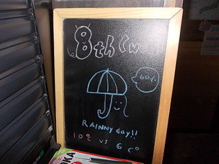 手書きの天気予報