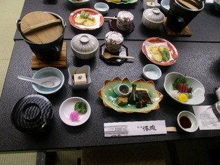 京会席料理の様子