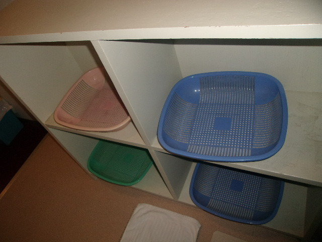2F共同浴室脱衣場の様子