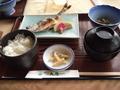 ヒメマスの焼き魚定食