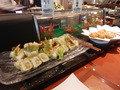 エビ天の巻寿司といなり寿司
