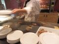 ステーキの鉄板焼き