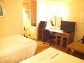 ツインルームにゆっくり宿泊