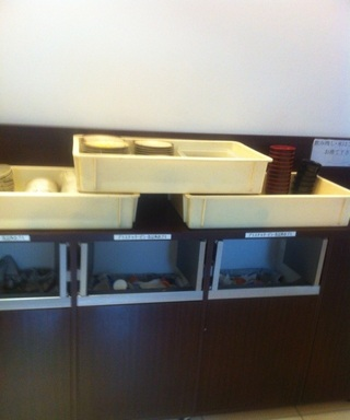 使用済み食器、ゴミ