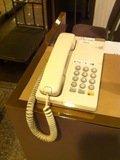 シャトルバス側ホテル入口の館内電話