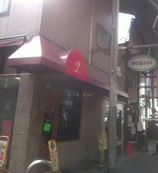 ホテルのレストランの入口