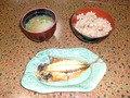 朝食の蛸飯