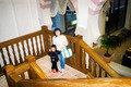 日本ではあまり見られない趣が階段にも・・・