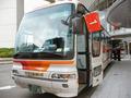 バスが数台横付けできる広いロータリー
