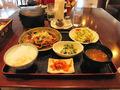 2階レストランの生姜焼き定食
