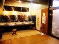 大浴場の脱衣場と洗面台