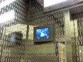 直結エレベータの防犯モニター
