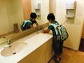 ゆとりのある手洗い場