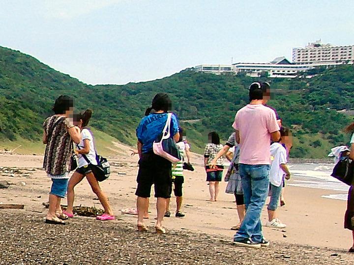 恋路ヶ浜から望むビューホテル
