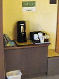 セルフサービスのウェルカムコーヒー