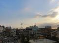 ホテル駐車場から見た知立駅方面