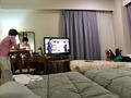 家族3人、くつろぎの客室