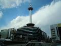 京都タワーが青空に・・・