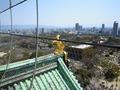 大阪城公園の天守閣の上から・・・