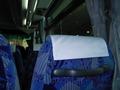 送迎バスの中です。