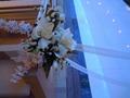 バージンロードのお花です。