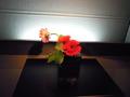 和食レストラン街の花