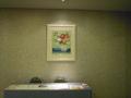館内のご案内が紙で用意されています。