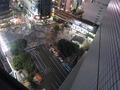 渋谷のスクランブル交差点も見えます。