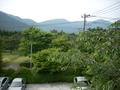 箱根の山がみえました。