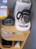 湯沸し機と目覚まし時計