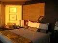 夕日に染まる部屋です。