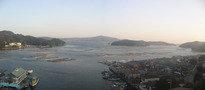 客室から望む生浦湾の朝焼け