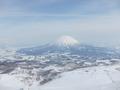ホテルのスキー場トップから見える景色